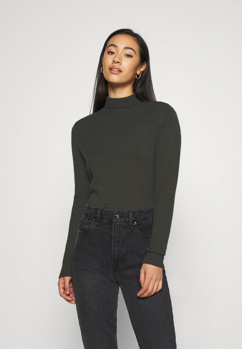 Noisy May - NMPENNY HIGH NECK - Jumper - peat