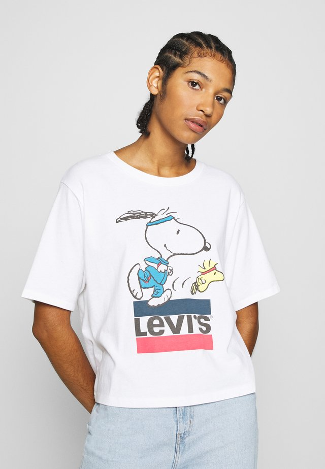LEVI'S X PEANUTS GRAPHIC BOXY TEE - Triko spotiskem - white