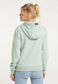Schmuddelwedda - Zip-up sweatshirt - rauchmint melange - 2