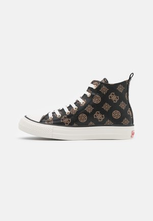 High-top trainers - brown/ocra