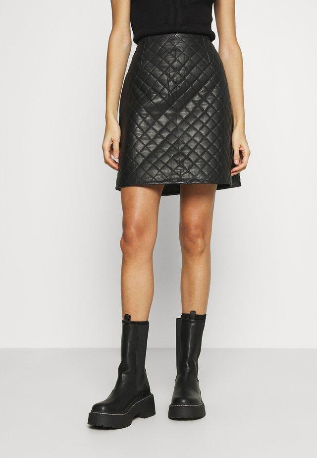 VINAMALI SKIRT - Mini skirt - black