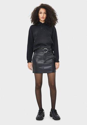 MIT GÜRTELSCHLEIFE - A-line skirt - black