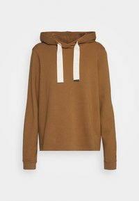 LONG SLEEVE HOODED CUFFS - Felpa con cappuccio - deep tobacco