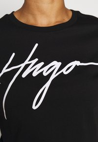 HUGO - THE SLIM TEE - Print T-shirt - black - 5