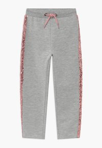 Blue Seven - KIDS SEQUIN SIDE STRIPE - Tracksuit bottoms - grey - 0