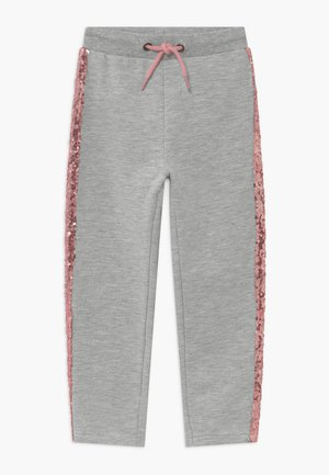 KIDS SEQUIN SIDE STRIPE - Tracksuit bottoms - grey