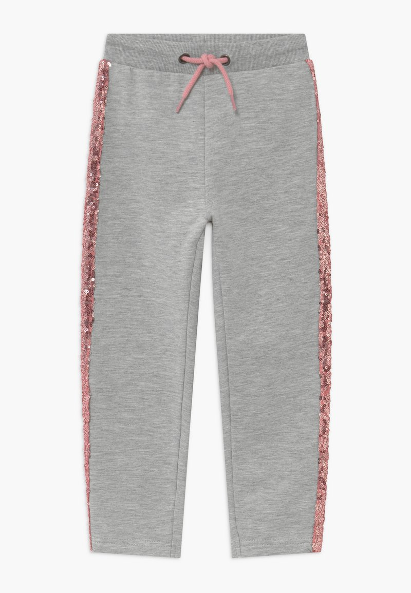Blue Seven - KIDS SEQUIN SIDE STRIPE - Tracksuit bottoms - grey