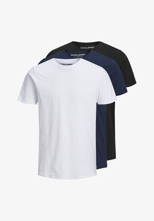 3 PACK  - Basic T-shirt - black navy white