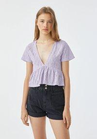 PULL&BEAR - Blouse - purple - 0