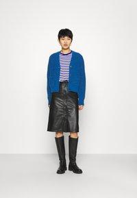 Deadwood - LARA SKIRT - Leather skirt - black - 1