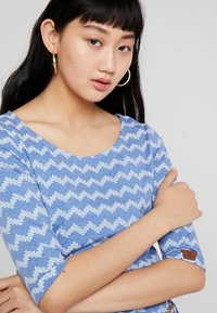 Ragwear - TANYA ZIG ZAG - Jersey dress - blue - 4