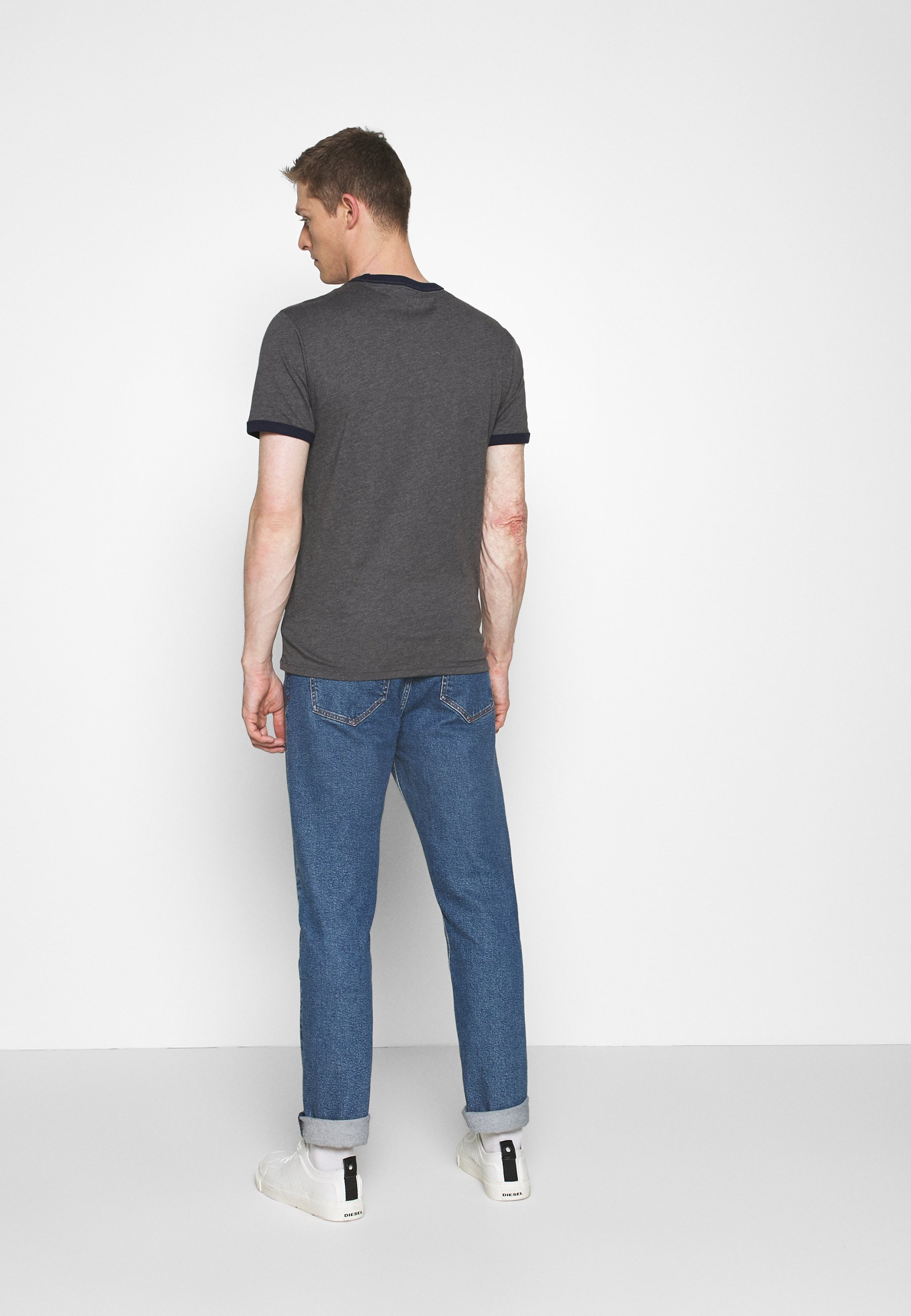 GAP LOGO RINGER - Print T-shirt - charcoal grey 6eCOH