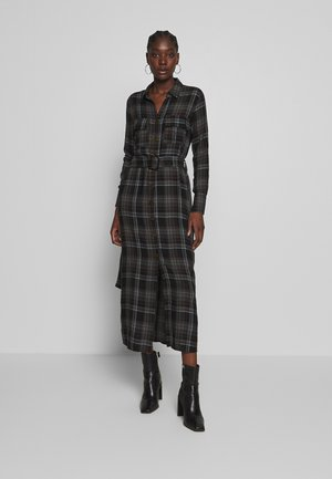 PRINTED DRESS - Shirt dress - grey