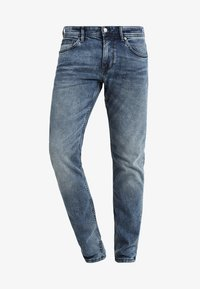 light stone wash denim blue