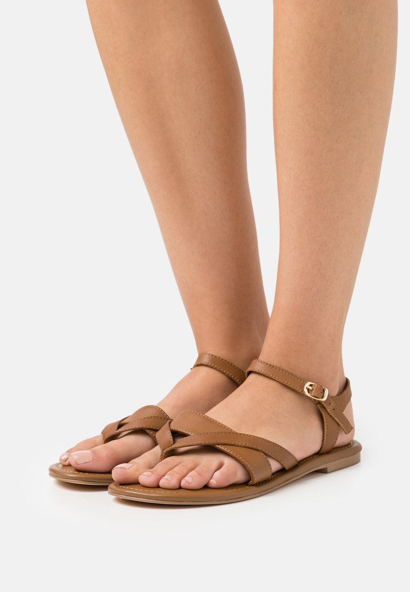 Anna Field Wide Fit - T-bar sandals - cognac