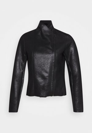 ONLNOELLA JACKET - Faux leather jacket - black