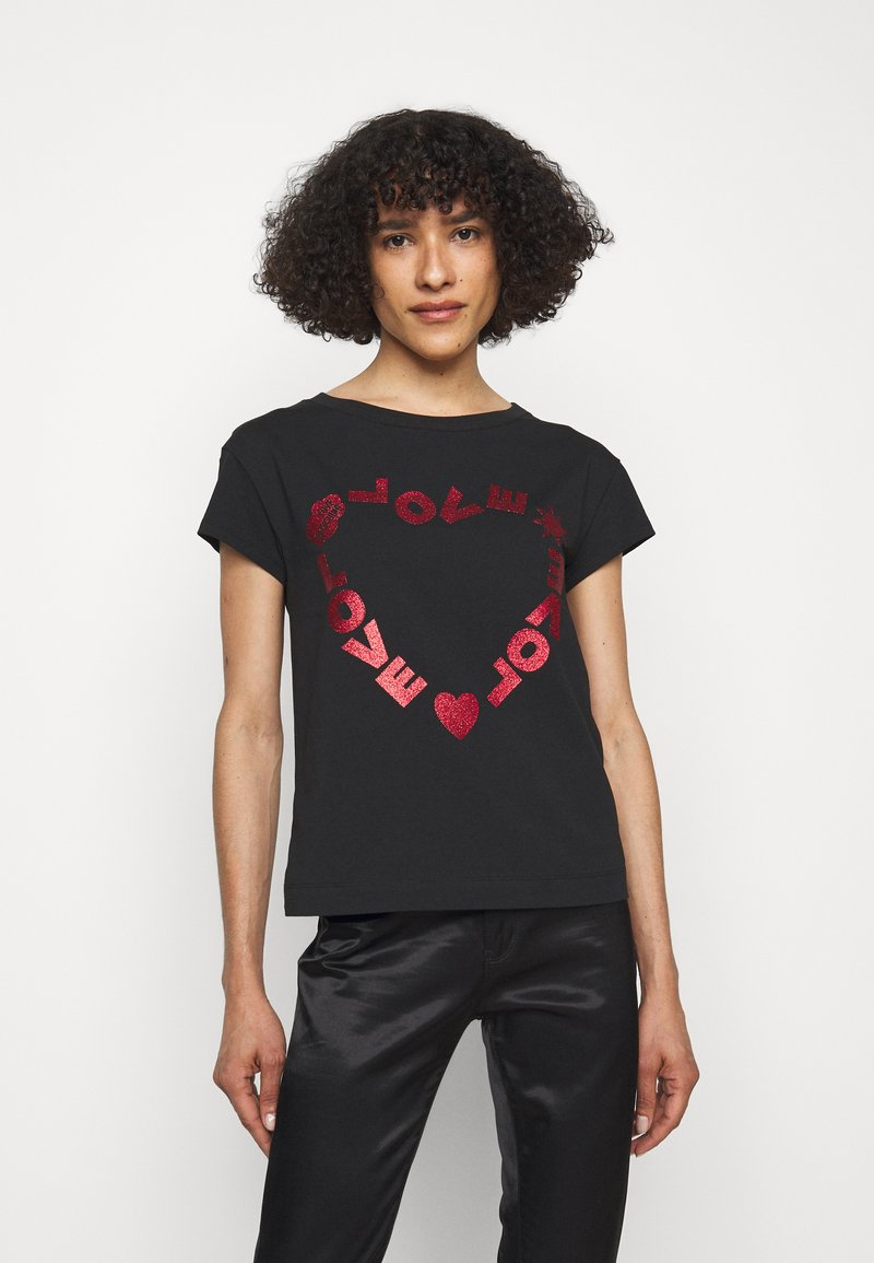 Love Moschino - T-shirt imprimé - black