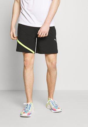 IGNITE BLOCKED SHORT - Sportovní kraťasy - black/yellow