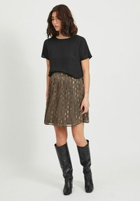 Vila - A-line skirt - black - 1