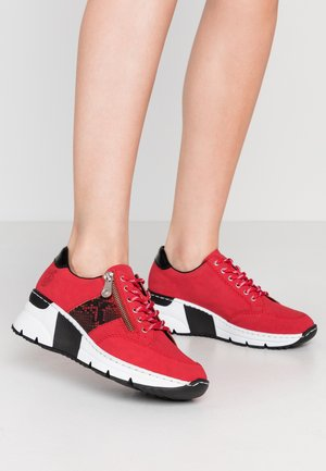 Sneakers laag - rot/schwarz