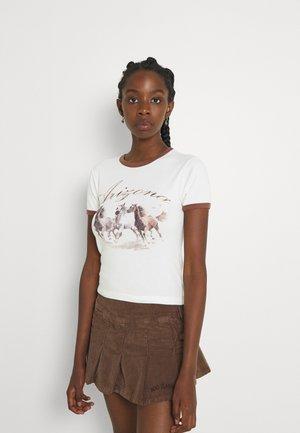 ARIZONA HORSE BABY - Print T-shirt - cream