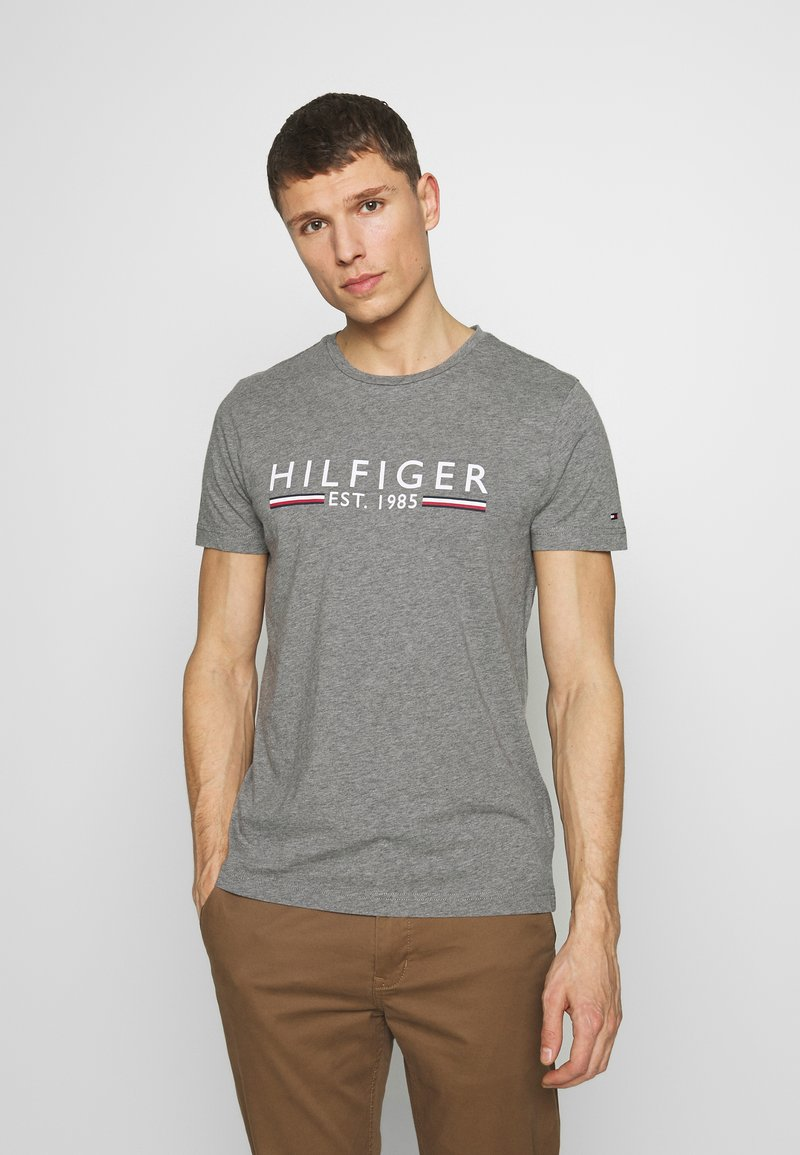 Tommy Hilfiger - TEE - T-shirt imprimé - grey