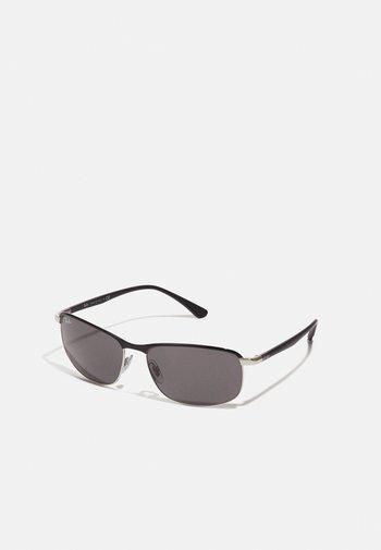 Sunglasses - black on silver-coloured