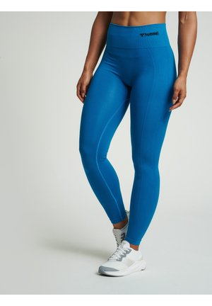SEAMLESS HIGH WAIST  - Leggings - mykonos blue