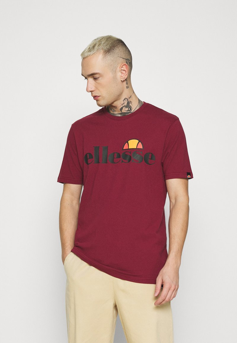 Ellesse - PRADO - T-shirt z nadrukiem - burgundy