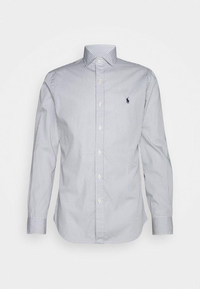 LONG SLEEVE SPORT SHIRT - Camicia - grey/white