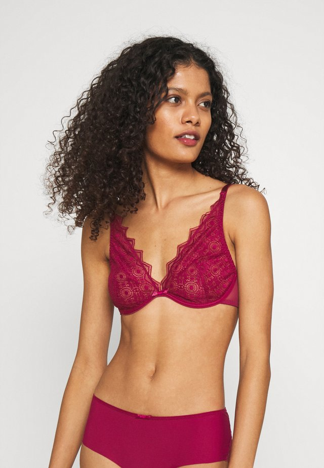 GEORGIA - Triangle bra - cassis