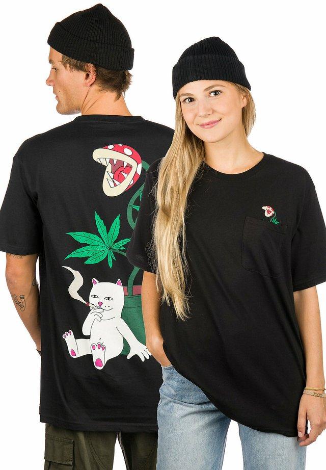 HERB EATER  - Print T-shirt - black