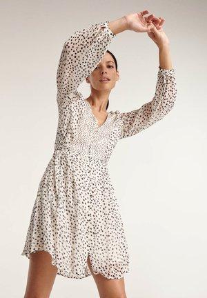 Shirt dress - white / navy