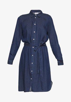 VIBISTA BELT DRESS - Košilové šaty - dark blue