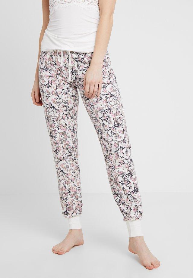 DAMEN LANG SOUL SLEEP - Pyjama bottoms - ivory flower