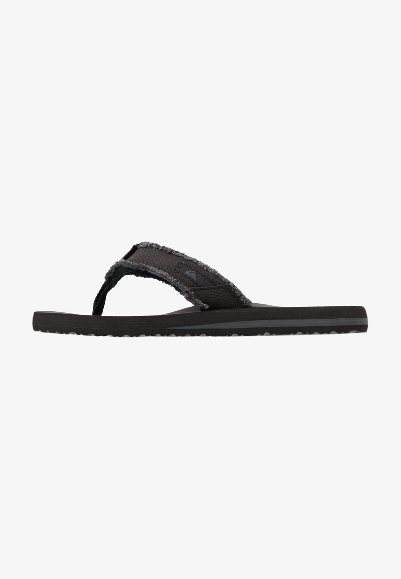 Quiksilver - MONKEY ABYSS - T-bar sandals - black/brown