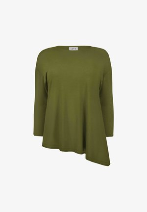 ASYMMETRIC SUSTAINABLE - Long sleeved top - khaki
