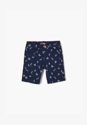 BROEK - Shorts - dark blue aop