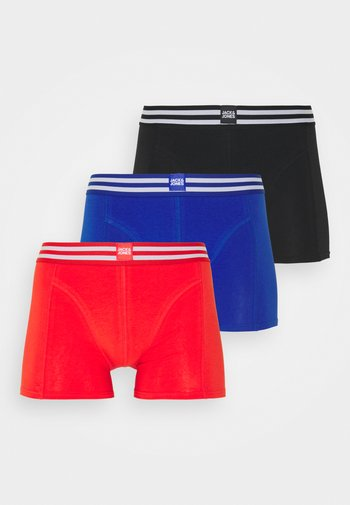 JACSPORTY LOOK TRUNKS 3 PACK - Boxerky - black/surf the web/firey red