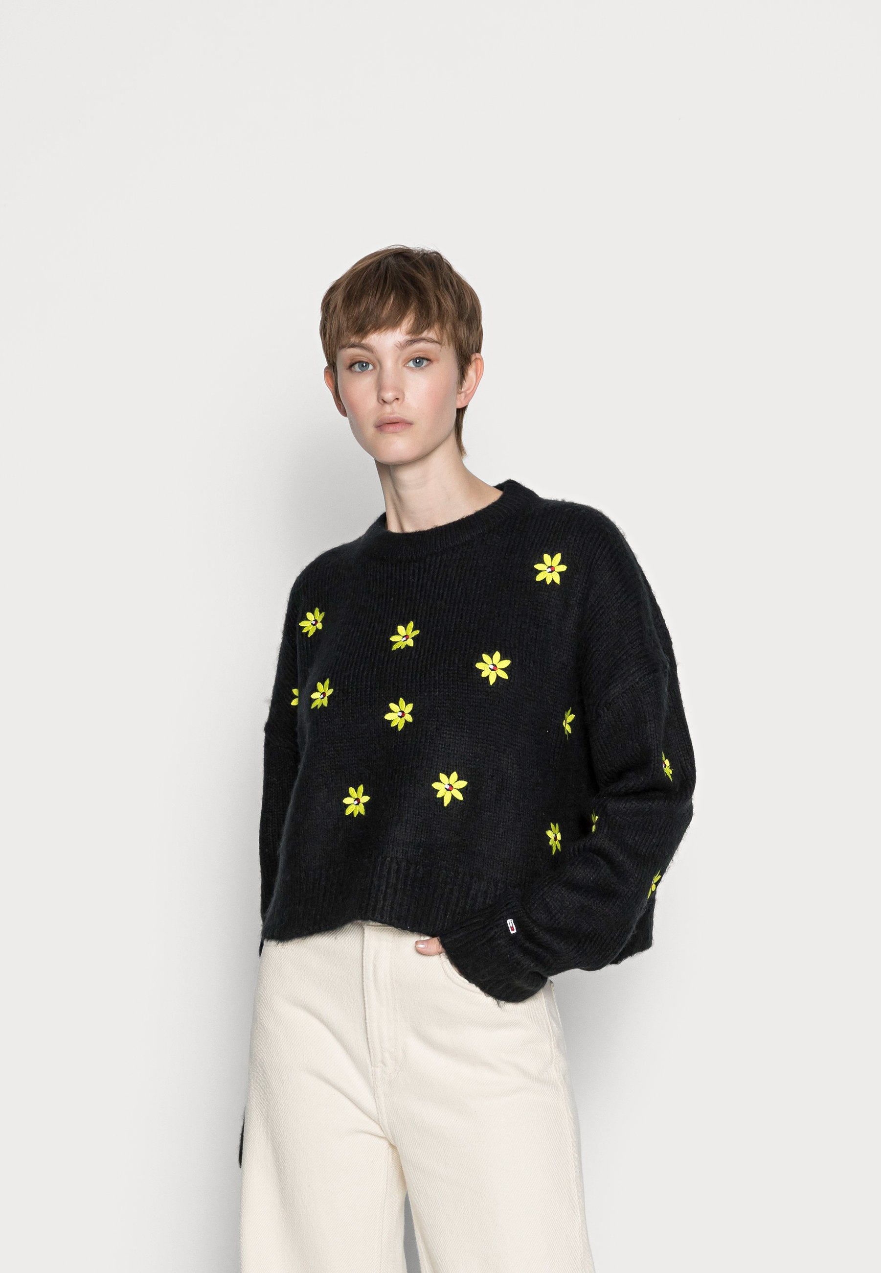 Mujer FLORAL CRITTER SWEATER - Jersey de punto