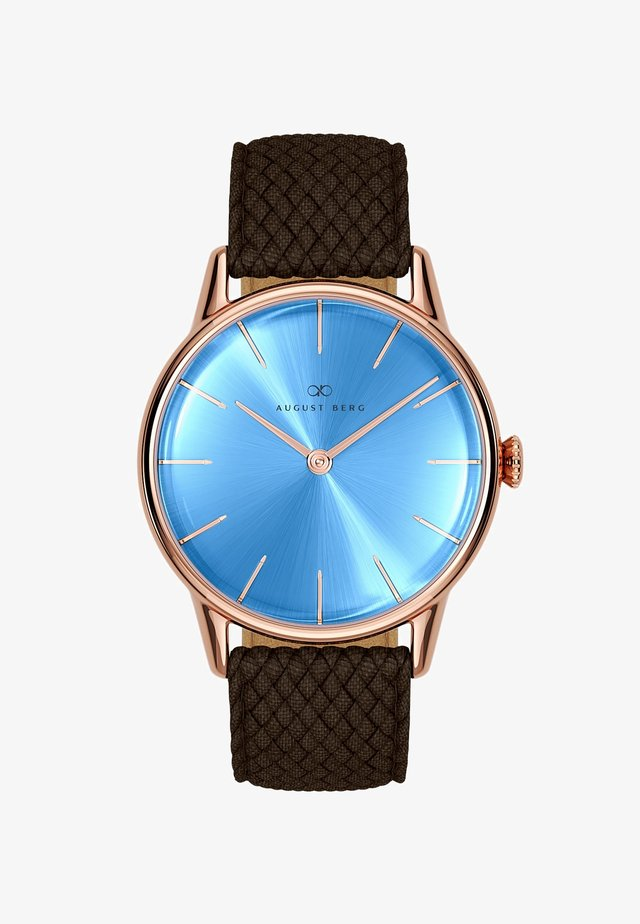 UHR SERENITY SKY BLUE DARK BROWN PERLON 32MM - Horloge - sky blue