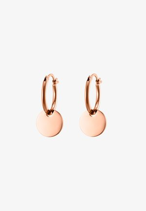 CREOLE CIRCULI POLIERT - Earrings - rosegoldfarben