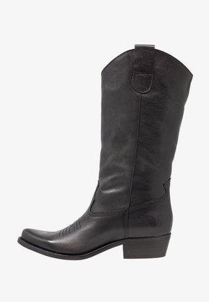 GERBERA - Kovbojské/motorkářské boty - lavado black