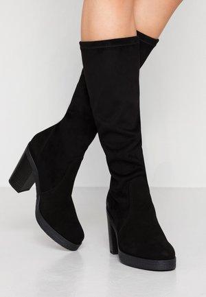 THERESA STRETCH - Boots med høye hæler - black