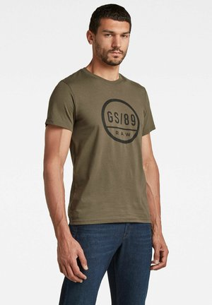 T-shirt con stampa - combat