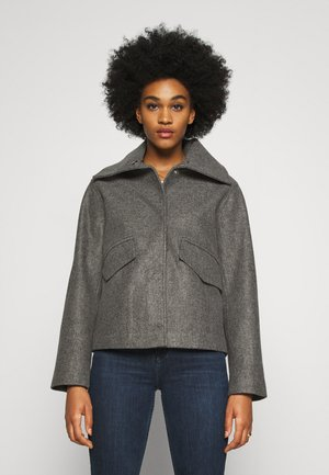 JDYTEA SHORT JACKET - Light jacket - dark grey melange
