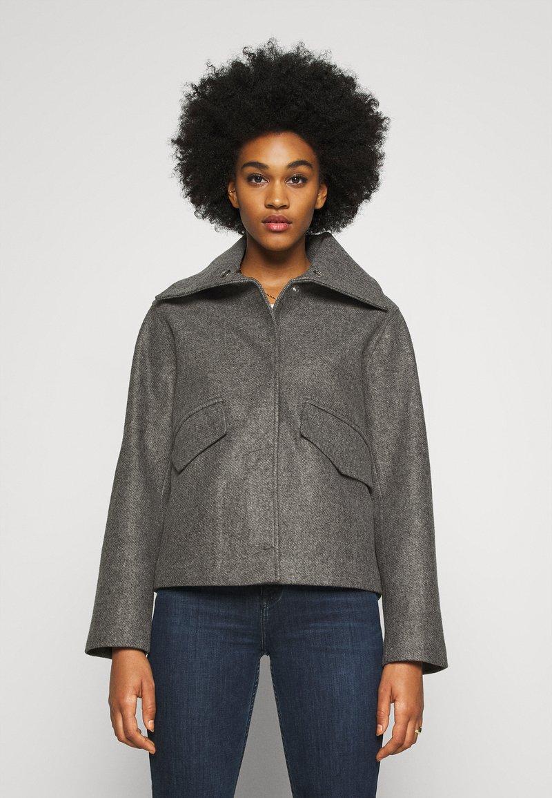 JDY - JDYTEA SHORT JACKET - Light jacket - dark grey melange