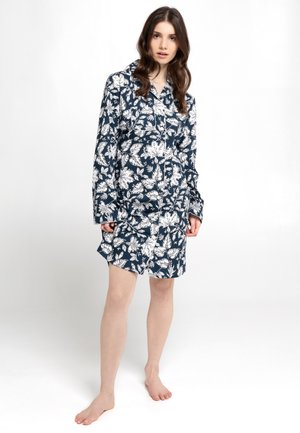 SLEEPSHIRT, LONG SLEEVE - Negligé - blau