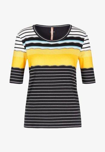 Print T-shirt - saffron yellow