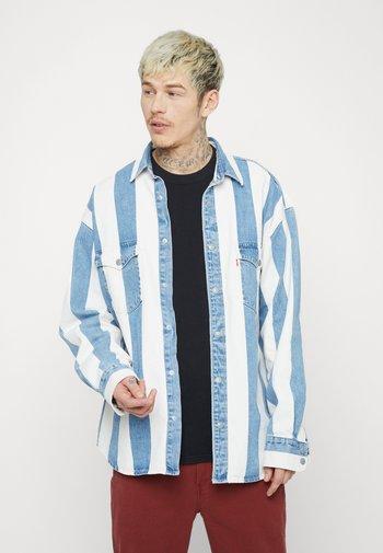 BARSTOW WESTERN UNISEX - Shirt - blue denim/white